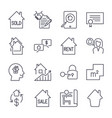 real estate thin line art icons set residential vector image vector image