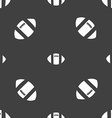 rugby ball icon sign Seamless pattern on a gray vector image