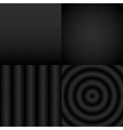 Seamless black and white abstract pattern set vector image vector image