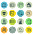 set of 16 education icons includes library paper vector image vector image