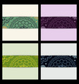 set of sketched flower print in bright colors vector image vector image