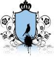 shield and bird vector image vector image