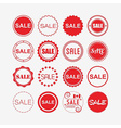 shopping and retail design elements vector image vector image
