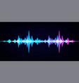 sound wave equalizer modern audio spectrum vector image