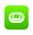 stadium top view icon digital green vector image vector image