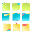 sticky notes set vector image vector image