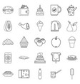street coffee house icons set outline style vector image vector image
