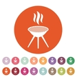 The grill icon Barbecue and picnic barbeque vector image vector image