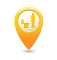 toilet8 map pointer yellow drop vector image vector image