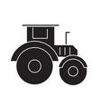 tractor black concept icon tractor flat vector image vector image
