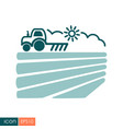 tractor plows the field before sowing icon vector image vector image