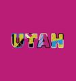 utah concept word art vector image