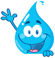 Water Drop Showing Thumbs Up vector image vector image