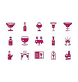 wine celebration drink beverage party event icons vector image vector image
