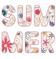 word summer painted vintage vector image vector image