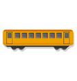 yellow passenger wagon icon cartoon style vector image