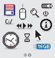Computer symbols vector image