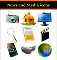 news and media icons vector image