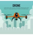 drone fly over city graphic vector image