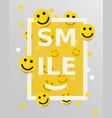 smiley faces design elements vector image