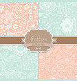 4 seamless patterns Shabby chic Floral patterns vector image vector image