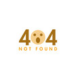 404 icon graphic design template vector image