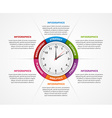 Abstract infographic with clock in the centre vector image vector image
