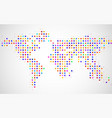 abstract world map of dots on white background vector image vector image