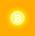 abstract yellow energy ring with bitcoin on a vector image