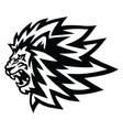 angry lion head roaring logo mascot icon vector image vector image