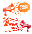 attention please symbols with voice vector image vector image