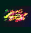autumn super sale sale for halloween vector image vector image