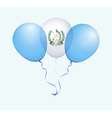Balloons in as Guatemala National Flag vector image