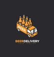 beer delivery logo vector image vector image