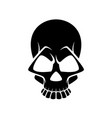 black and white human skull icon symbol or emblem vector image vector image