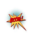 boom comic text symbol sign vector image
