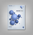 brochures book or flyer with abstract blue balls vector image vector image