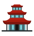 Buddhist temple icon flat style vector image vector image