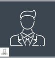 businessman thin line icon vector image