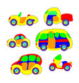 cars in the toy style colorful and funny vector image vector image