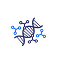 genetic engineering and dna modification icon vector image vector image