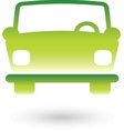 Green car 2 resize vector image vector image