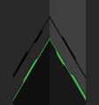 green line arrow on grey metal design modern vector image vector image