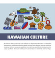 hawaii travel symbols and tourism landmarks vector image vector image