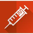 injection icon vector image vector image
