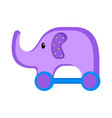 isolated elephant toy icon vector image