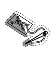 Isolated sewing pin vector image