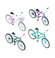isometric bikes 3d pictures transport vector image vector image