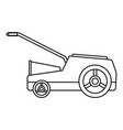 lawn mower machine icon outline style vector image vector image
