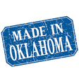 made in Oklahoma blue square grunge stamp vector image vector image